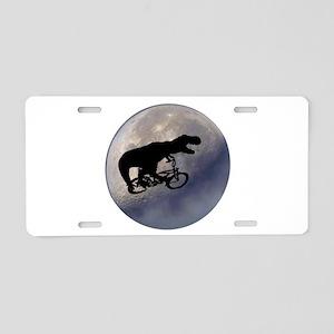 T-Rex vintage moon Aluminum License Plate