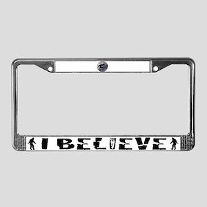 T-Rex vintage moon License Plate Frame