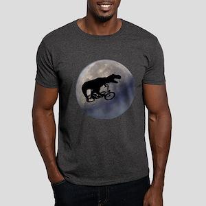 T-Rex vintage moon Dark T-Shirt