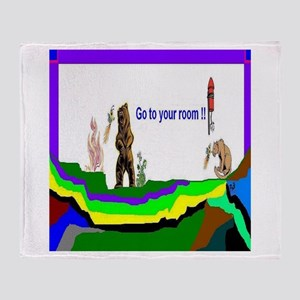 Go To Your Room Throw Blanket