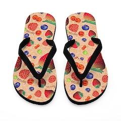 Berries Flip Flops