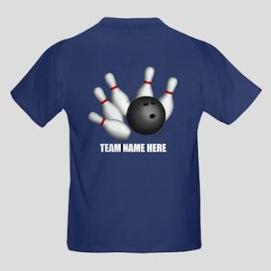 Personalized Team Bowling Kids Dark T-Shirt