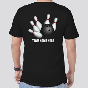 Personalized Team Bowling Men's Fitted T-Shirt