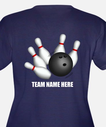 Personalized Team Bowling Plus Size V-Neck T-Shirt