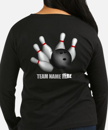 Personalized Team Bowling Long Sleeve Brown Shirt