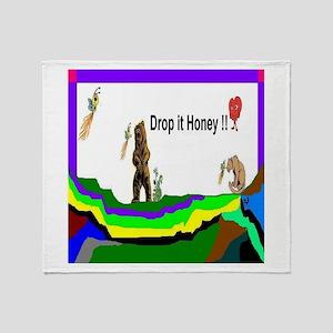 Drop It Honey Throw Blanket