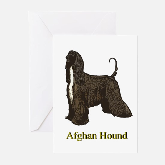 Afghan Hound Christmas Drawing Greeting Cards (Pac