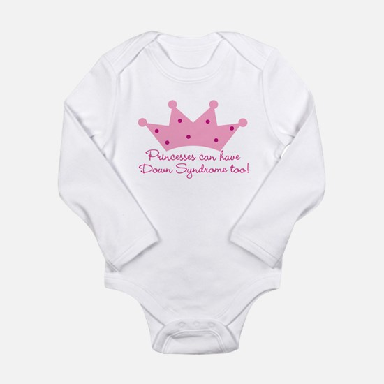 Down Syndrome Princess Infant Creeper Body Suit Bo