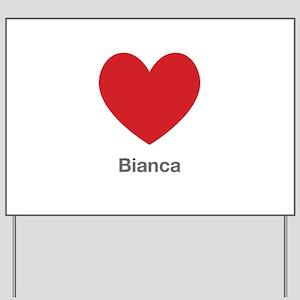 Bianca Big Heart Yard Sign