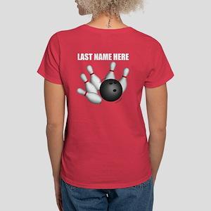 Individual Personalized Bowling Women's T-Shirt