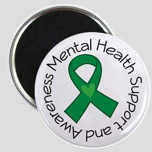 Mental Health Heart Ribbon Magnet
