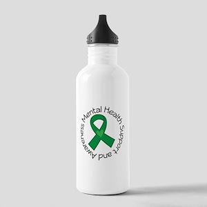 Mental Health Heart Ribbon Stainless Water Bottle