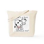 Cow Bun Tote Bag