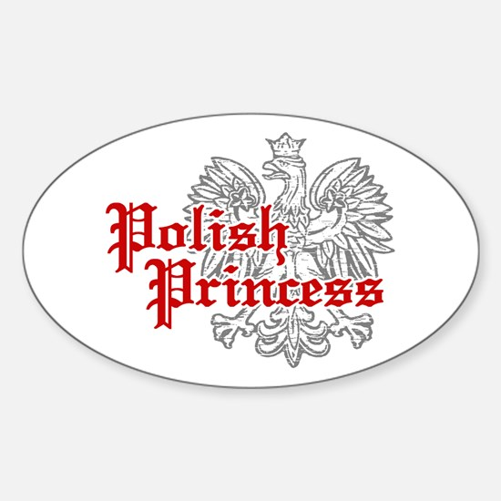 Polish Princess Oval Decal