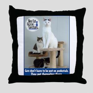 Cats on Pedestals Throw Pillow