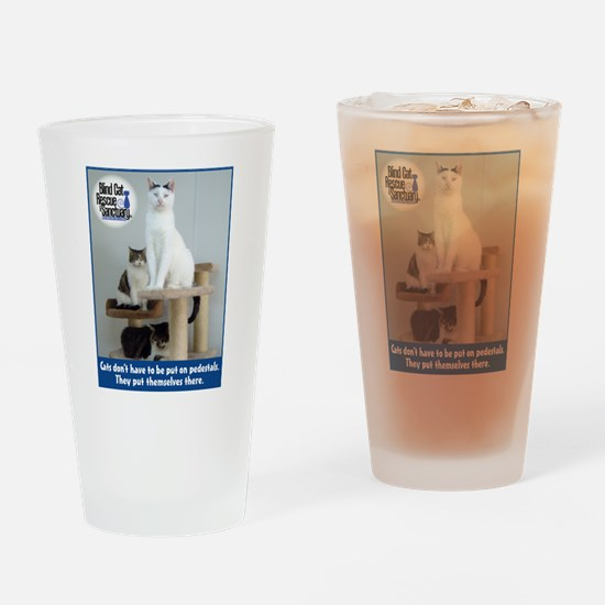 Cats on Pedestals Drinking Glass