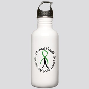 Mental Health Stick Figure Stainless Water Bottle