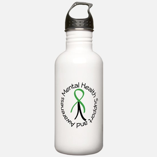 Mental Health Stick Figure Water Bottle