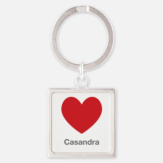 Casandra Big Heart Square Keychain