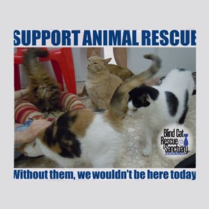 Support Animal Rescue Throw Blanket