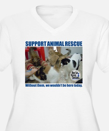 Support Animal Rescue Plus Size T-Shirt