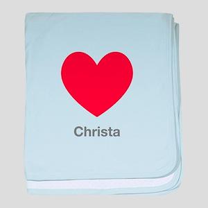 Christa Big Heart baby blanket