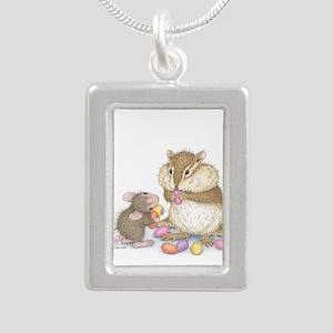 Sweet Friends Silver Portrait Necklace