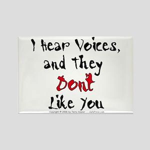 Hear Voices... Rectangle Magnet