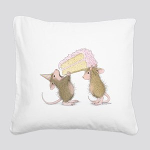 A Piece of Cake Square Canvas Pillow