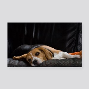 Lazy Beagle - Car Magnet