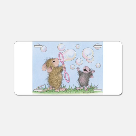 Bubble Blowing Buddies Aluminum License Plate