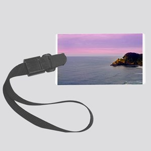 Evening Lighthouse Luggage Tag