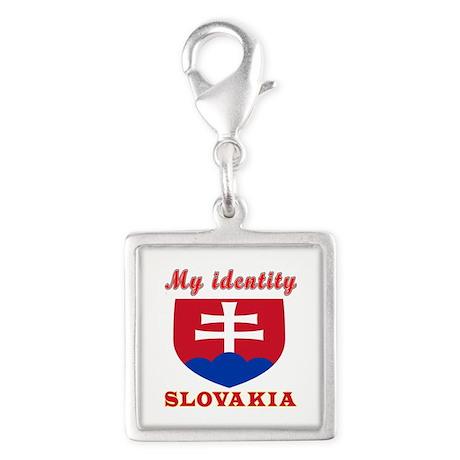My Identity Slovakia Silver Square Charm