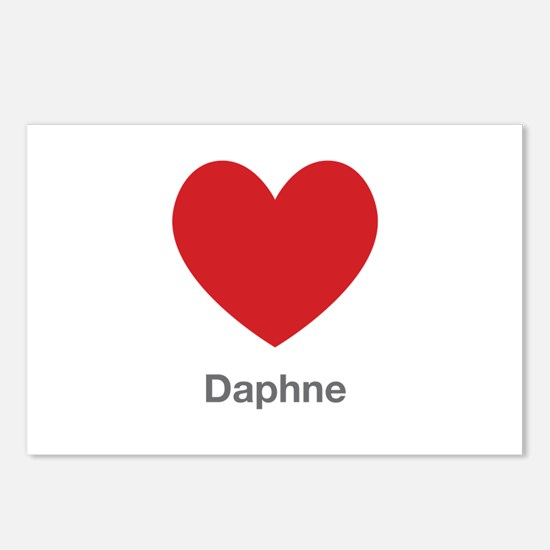 Daphne Big Heart Postcards (Package of 8)