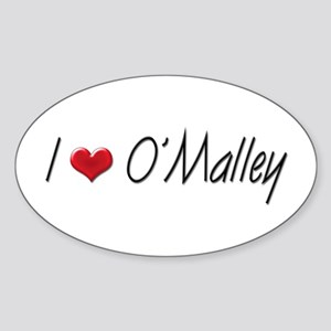 I heart George O'Malley Oval Sticker