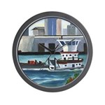 On the River In New Orleans Wall Clock