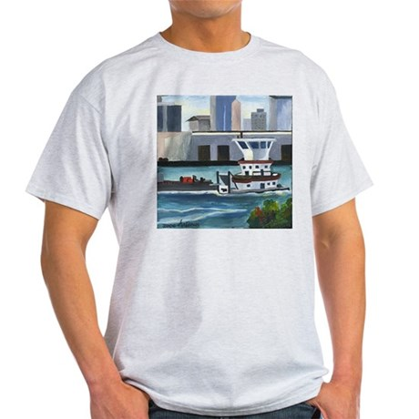 On the River In New Orleans Ash Grey T-Shirt