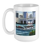On the River In New Orleans Large Mug