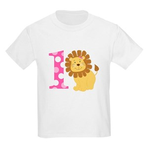 Girl Lion Im ONE Birthday T Shirt