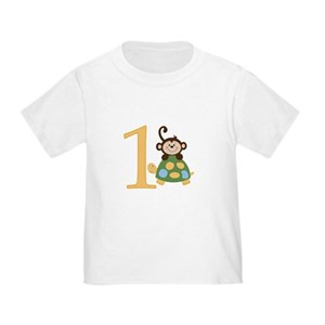 Monkey And Turtle Im ONE Birthday T Shirt