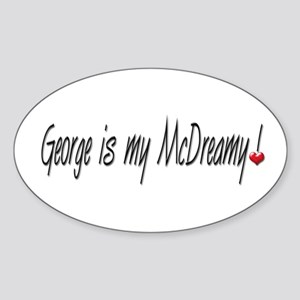George is McDreamy Oval Sticker