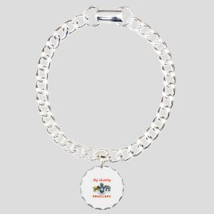 My Identity Swaziland Charm Bracelet, One Charm