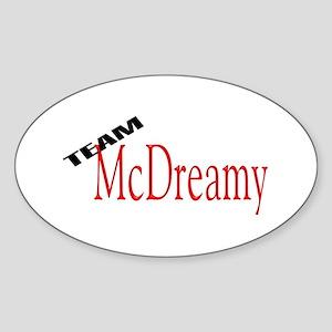 Team McDreamy Oval Sticker