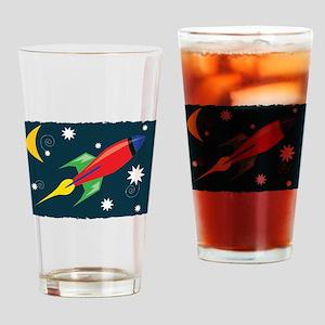 Rocket Ship Drinking Glass