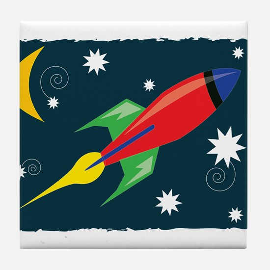 Rocket Ship Tile Coaster
