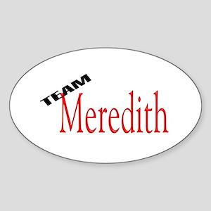 Team Meredith Oval Sticker