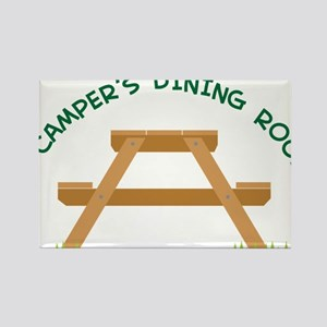 Campers Picnic Table Rectangle Magnet
