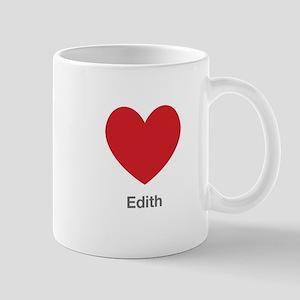 Edith Big Heart Mug