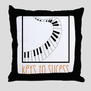 Keys To Sucess Throw Pillow