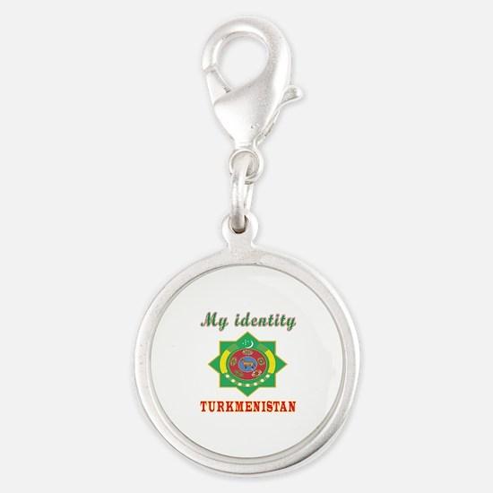 My Identity Turkmenistan Silver Round Charm